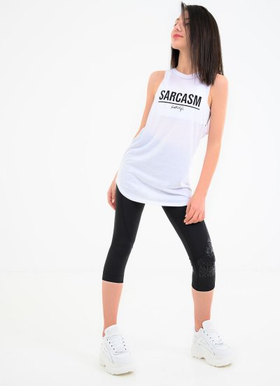 Women T-Shirts - Tops Sarcasm.Tee White Polyester Kendall+Kylie