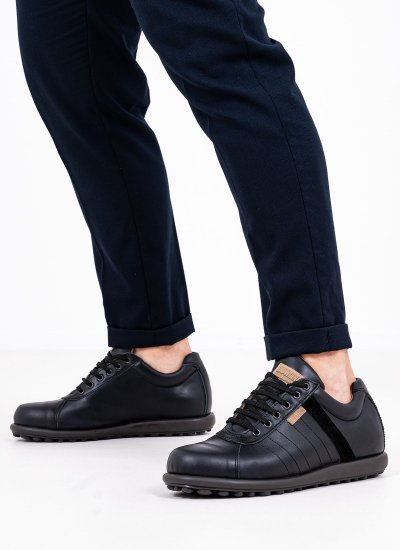 Men Casual Shoes C15 Black Leather Sea and City