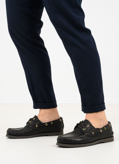 Men Moccasins C88 Black Leather Sea and City
