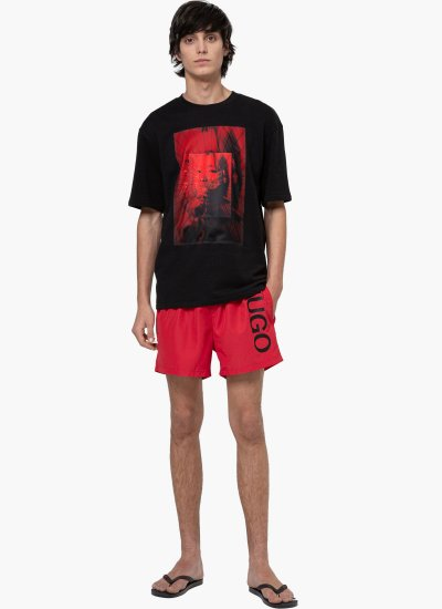 Men Swimsuit Abas Red Polyester Hugo