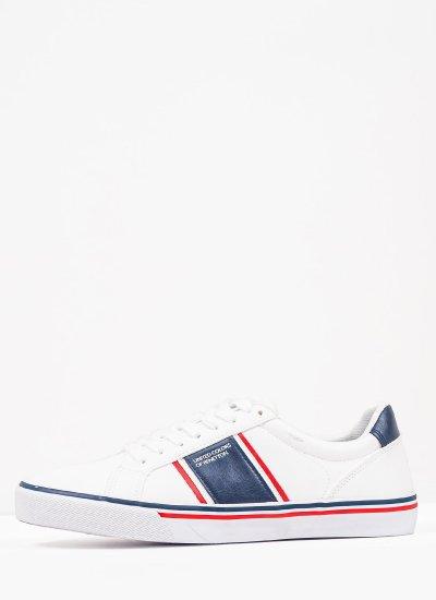 Men Casual Shoes Crispy.Ltx White Eco-Leather Benetton